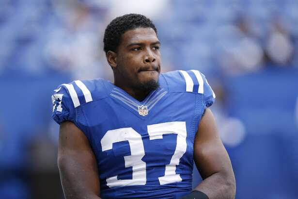 INDIANAPOLIS, IN - OCTOBER 25: Zurlon Tipton #37 of the Indianapolis Colts looks on against the New Orleans Saints during a game at Lucas Oil Stadium on October 25, 2015 in Indianapolis, Indiana. The Saints defeated the Colts 27-21. (Photo by Joe Robbins/Getty Images)