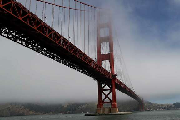 SAN FRANCISCO, CA - JUNE 28:  A view of the Golden Gate Bridge on June 28, 2016 in San Francisco, California. A new video that allegedly supports ISIL has emerged on the internet shows San Francisco's iconic Golden Gate Bridge as well as the office building at 555 California.