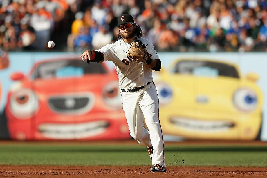 Brandon Crawford sat out Monday's loss to the A's with general soreness. Photo: Lachlan Cunningham, Getty Images