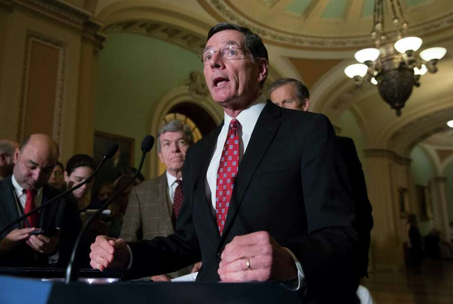 Sen. John Barrasso, R-Wyo., talks to reporters in Washington on Tuesday about the urgency to fight the Zika virus. Senate Democrats blocked a bill to give $1.1 billion to fight the disease. Photo: J. Scott Applewhite, STF / AP