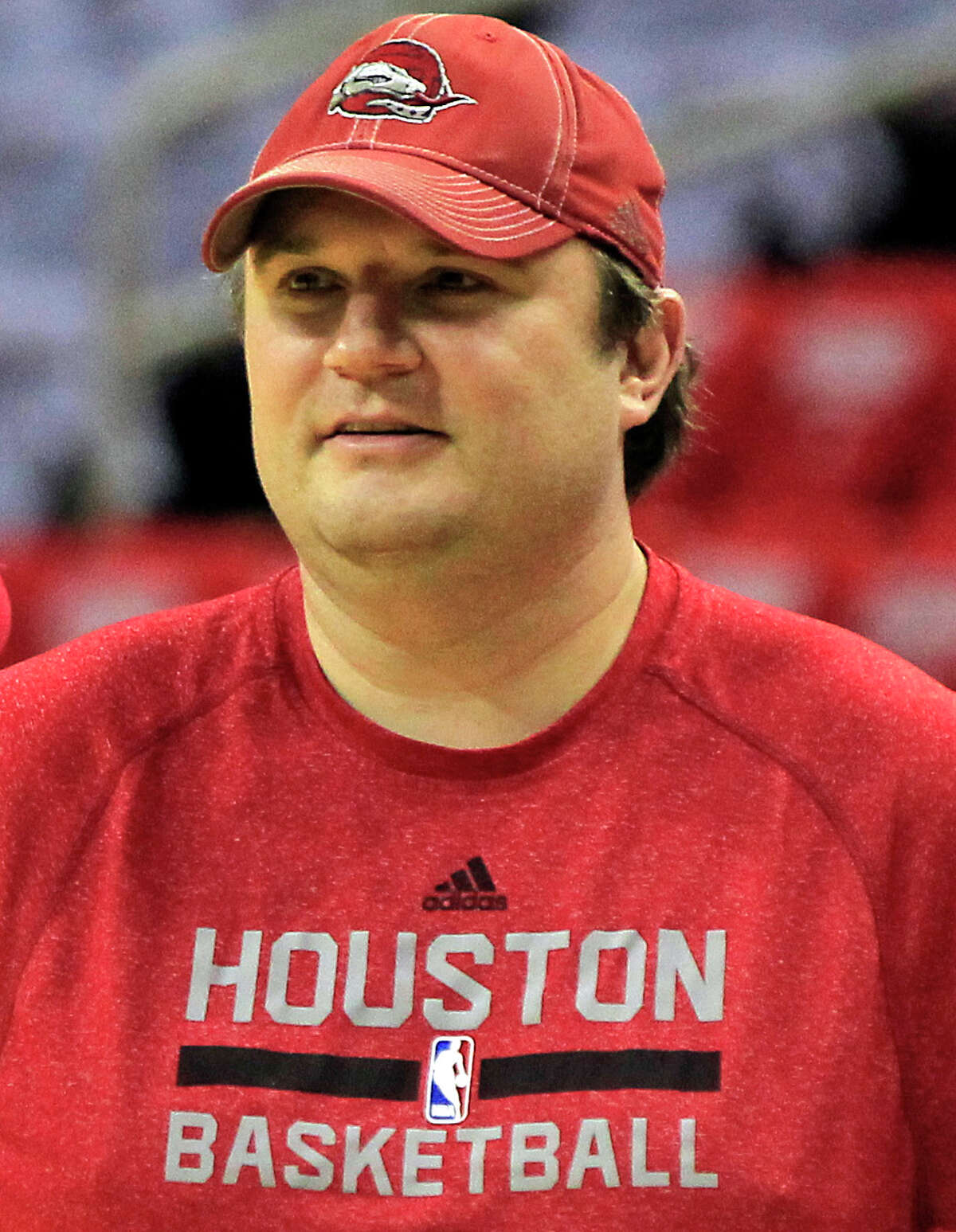 Houston Rockets General Manager Daryl Morey during the Rockets shoot around before Game 3 of the NBA Western Conference Finals at the Toyota Center on Saturday, May 23, 2015, in Houston.