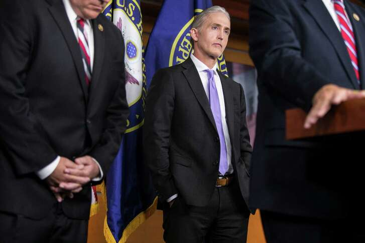Rep. Trey Gowdy, R-S.C., chair of the House Select Committee on Benghazi, and other members talk about the report Tuesday on Capitol Hill. The report did not dispute that U.S. military forces stationed in Europe couldn't have reached Benghazi in time to rescue the four workers who died.