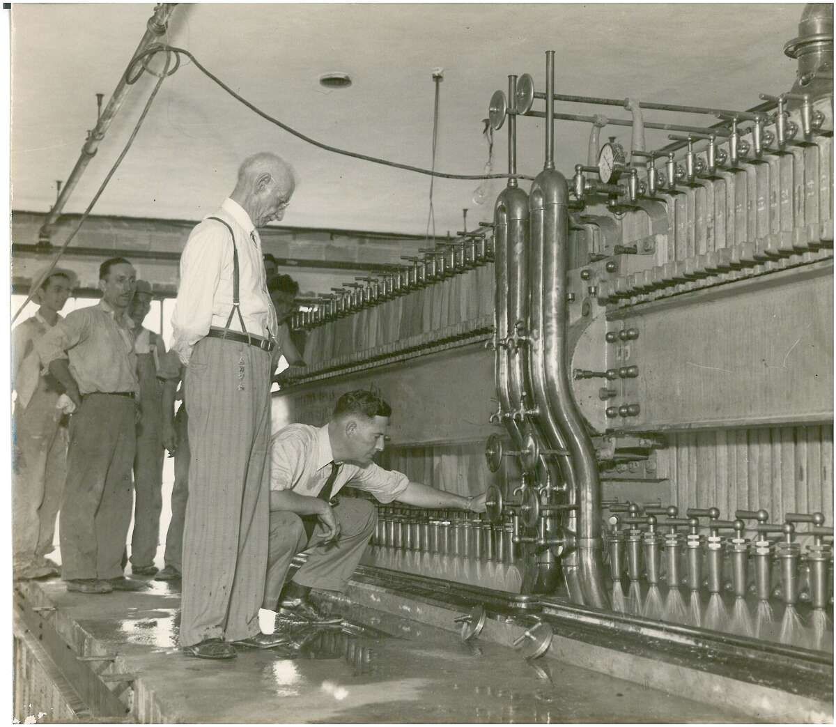 """Frantz Brogniez was given a free hand in designing the Grand Prize brewery for Gulf and lived long enough to oversee the first run of the bottling line. When he died two years later, his son Frantz P. Brogniez took over as brewmaster. Collection of Philip Brogniez. From """"Houston Beer: A Heady History of Brewing in the Bayou City"""" by Ronnie Crocker."""