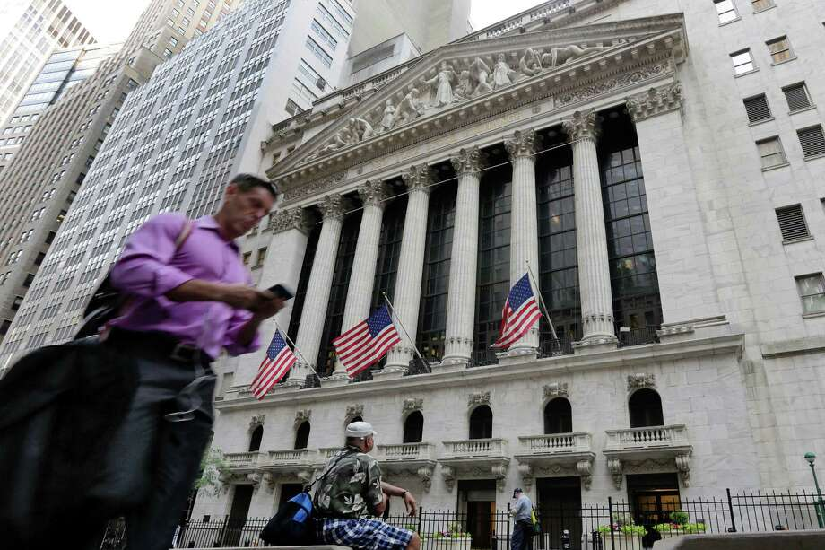 After a two-day slump, the Dow Jones industrial average gained 269.48 points to 17,409.72 Tuesday.  Photo: Richard Drew, STF / Copyright 2016 The Associated Press. All rights reserved. This material may not be published, broadcast, rewritten or redistribu