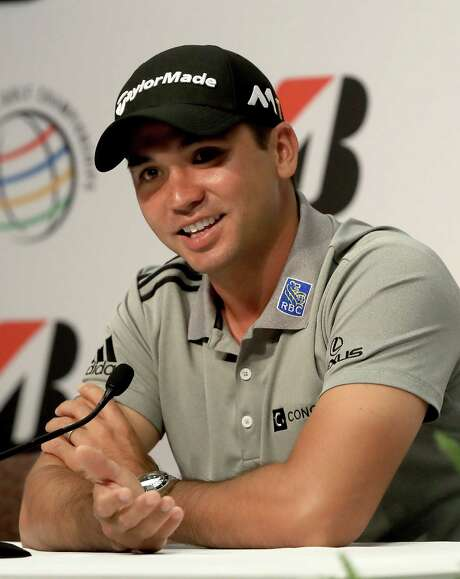 AKRON, OH - JUNE 28:  Jason Day of Australia speaks to the media regarding his withdrawal from the Olympic games in Brazil during a press conference for the World Golf Championships-Bridgestone Invitational at Firestone Country Club South Course on June 28, 2016 in Akron, Ohio.  (Photo by Sam Greenwood/Getty Images) Photo: Sam Greenwood, Staff / 2016 Getty Images