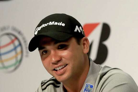 AKRON, OH - JUNE 28:  Jason Day of Australia speaks to the media regarding his withdrawal from the Olympic games in Brazil during a press conference for the World Golf Championships-Bridgestone Invitational at Firestone Country Club South Course on June 28, 2016 in Akron, Ohio.  (Photo by Sam Greenwood/Getty Images)