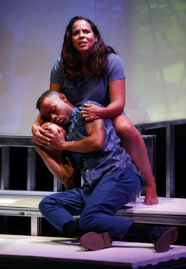 "Chima (Lauren Spencer) goes from Oakland to Mars to reunite with her son Sante (Michael Wayne Turner III) in ""H.O.M.E."" Photo: Scott Strazzante, The Chronicle"