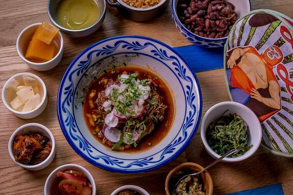 "The 10 ""Little Tastes "" with the Goat Birria at Fenix in San Francisco, Calif. are seen on June 28th, 2016."