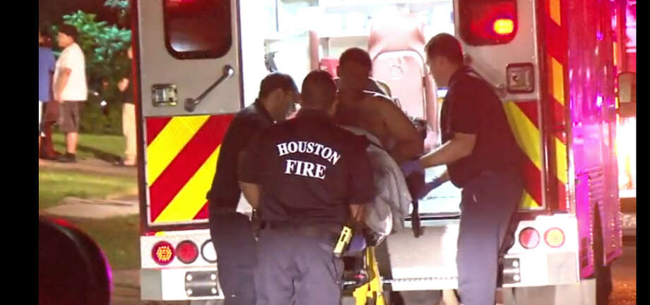 A man is in custody after a homeowner spotted him nude in his backyard and fired a gunshot at him about 11:50 p.m. Tuesday June 28, 2016, in the 15900 block of Rosebriar Drive in southwest Houston. (Metro Video)