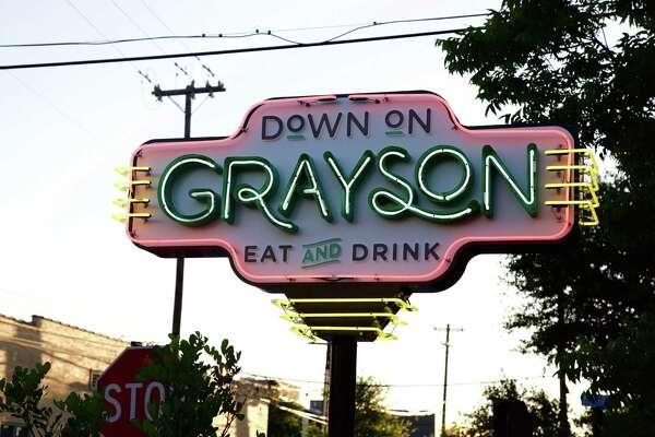 The sign outside of Down on Grayson.