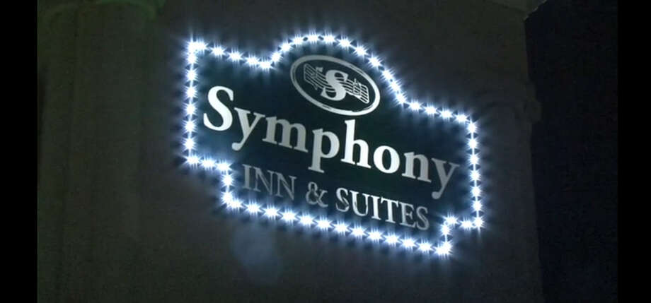 A man is in the hospital after he was wounded about 11 p.m. Tuesday, June 28, 2016, in a shooting at Symphony Inn & Suites along U.S. 59 in southwest Houston. (Metro Video)
