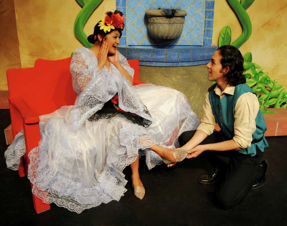 "Jovi Lee (from left) and Sean Salazar star in ""La Cinderella"" at Magik Theatre. Photo: Courtesy Megan Coy"