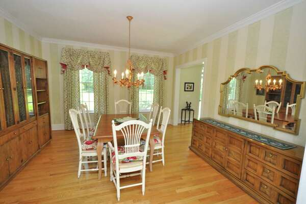 The dinning room. This private enclave with 24-hour security at 1655 Fence Row Drive in Fairfield is currently on the market for $1.2 million.