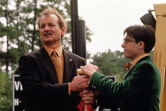 "Bill Murray, left, and Jason Schwartzman in Wes Anderson's ""Rushmore"" RUSHMORE, Bill Murray, Jason Schwartzman, 1998"