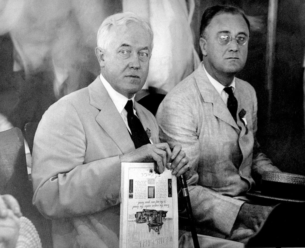 John W. Davis and Gov. Franklin D. Roosevelt (right) at a convention in Houston. (Photo by NY Daily News Archive via Getty Images)