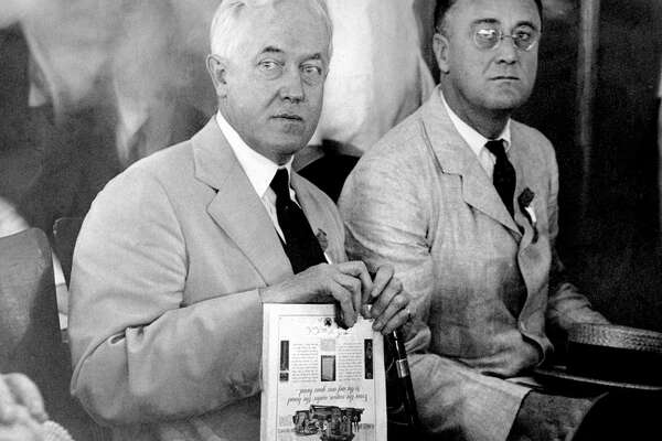 UNITED STATES - JUNE 27:  John W. Davis and Gov. Franklin D. Roosevelt (right) at a convention in Houston.  (Photo by NY Daily News Archive via Getty Images)