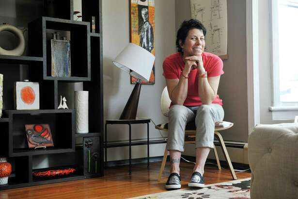 Alison Grant sits in her living room on Tuesday, May 10, 2016, in Saratoga Springs, N.Y.  (Paul Buckowski / Times Union)