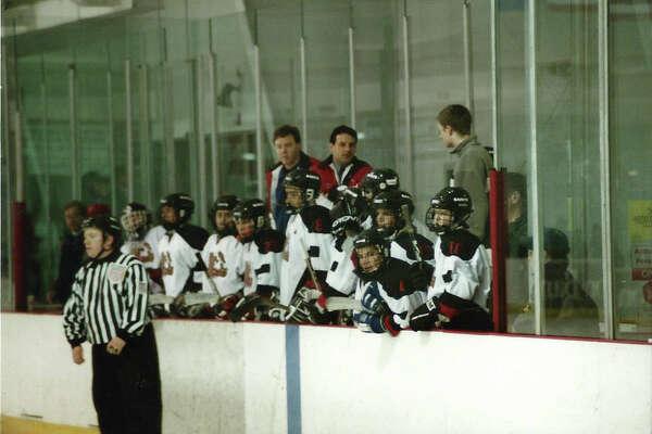 Chris Avena, center, will be the new boys hockey coach for Staples-Weston-Shelton this winter.