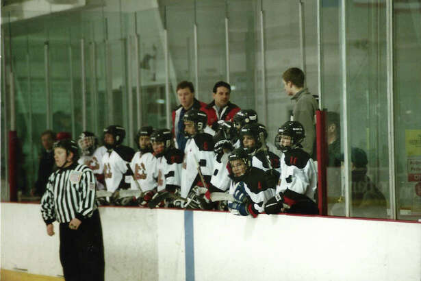 Chris Avena, center, will be the new boys hockey coach for Staples-Weston-Shelton this winter.