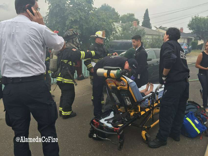 A young girl was taken to a hospital with life-threatening injuries after Alameda County firefighters rescued her from a burning house in an unincorporated neighborhood between San Lorenzo and Hayward. Two boys were also injured in the blaze.