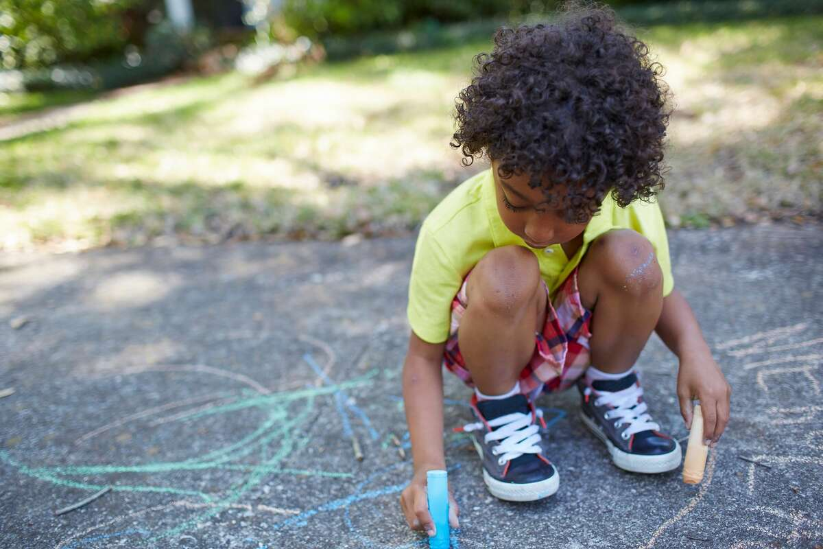 Create a sidewalk chalk masterpiece