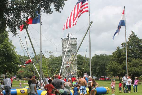 """The """"Quad Bungee Jumper"""" was one of the most popular rides last year at Friendswood's Fourth of July celebration at Centennial Park. Activities begin this year at 7:30 p.m. July 4 at the park.      The """"Quad Bungee Jumper"""" was one of the most popular rides last year at Friendswood's Fourth of July celebration at Centennial Park. Activities begin this year at 7:30 p.m. July 4 at the park."""