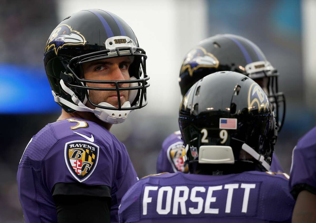 Baltimore Ravens Mike Wallace becomes relevant in fantasy again as Joe Flacco's deep threat. Torrey Smith averaged 53 receptions for 898 yards and eight TDs during his four seasons with Flacco. Wallace will surpass each number this season.
