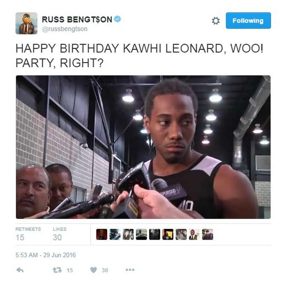 Throw a party: at 7 a.m., at the Spurs practice facility. No cake, decorations or happiness allowed. Photo: Twitter