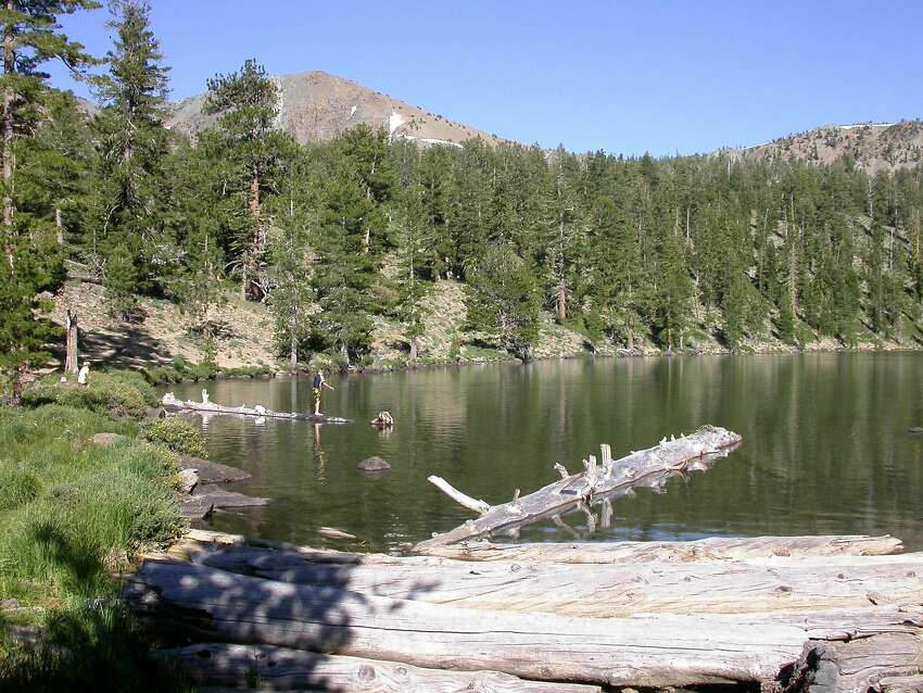 Deadfall Lake in the Trinity Divide is full of water. Hundreds of small lakes in the mountains of California north of Tahoe are full, as long as they are not designed as storage facilities to be drained and the water shipped to points south.