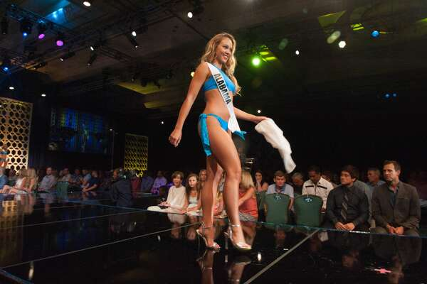 Taylor Ryan Elliott, Miss Alabama Teen USA 2015, competes in Sun Kitten Swimwear and Chinese Laundry shoes during the Swimsuit segment of the Preliminary Competition of the 2013 Miss Teen USA Pageant at ATLANTIS, Paradise Island, Bahamas on Friday, August 21, 2015.   HO/ Miss Universe L.P., LLLP
