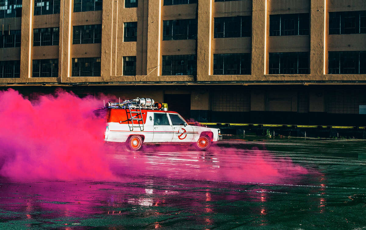 Four other Ecto-1s that will be roaming the city will be specially wrapped Toyota Highlanders, with all of the equipment attached to the car's roof.
