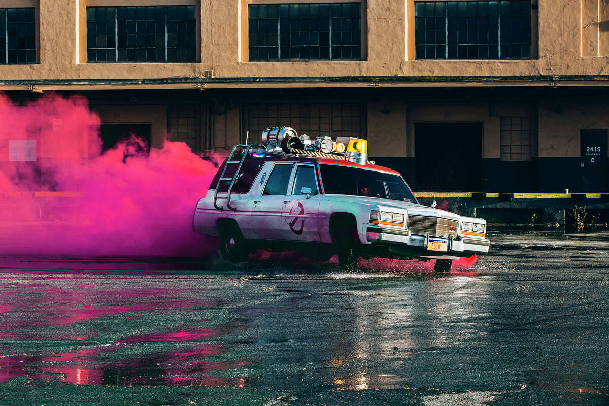 San Francisco will have one hearse decorated to look like the Ecto-1 from the movie to pick up riders.