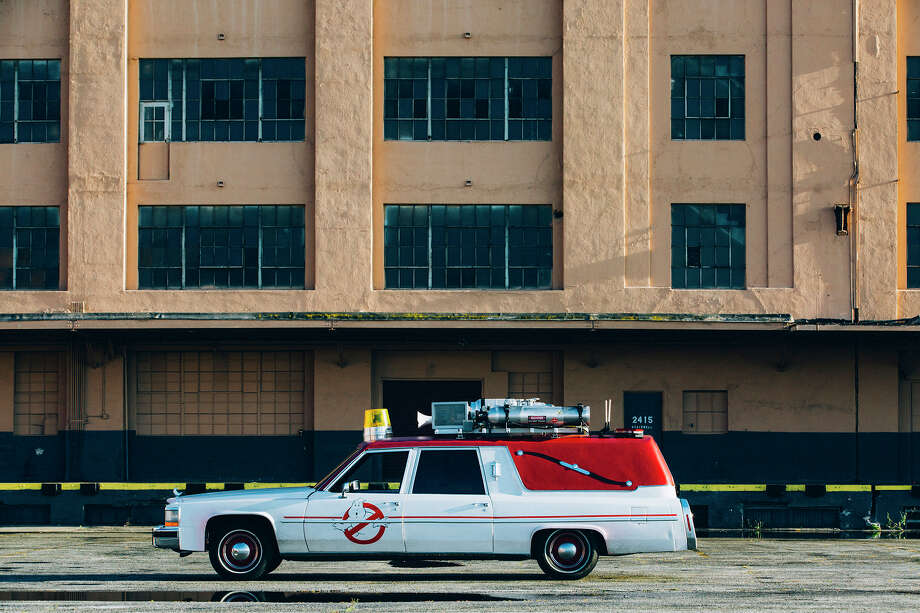Outfitted Ghostbusters Ecto-1 cars could be your next Lyft ride on Friday and Saturday in San Francisco. Photo: Lyft