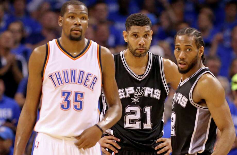 The Spurs were the fourth team to meet with Durant during the free agency process, joining the incumbent Oklahoma City Thunder, Golden State, and the Los Angeles Clippers. Photo: Edward A. Ornelas /San Antonio Express-News / © 2016 San Antonio Express-News