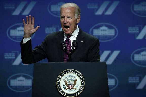 Vice President Joseph Biden speaks during the White House Summit on the United State Of Women earlier this month. A reader says presumptive Democratic presidential nominee Hillary Clinton should pick Biden as her running mate.