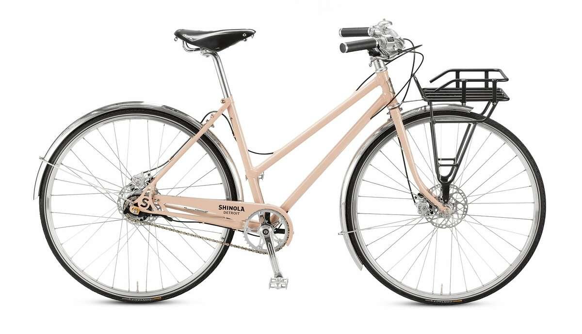 Shinola's Runwell women's bike in mauve was designed by Director of Bicycle Development Sky Yaeger, a San Rafael resident.