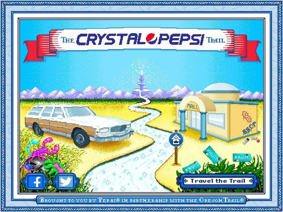 "Pepsi will release ""The Crystal Pepsi Trail"" online, a take on the popular 90s computer game ""The Oregon Trail."" Photo: Pepsi"