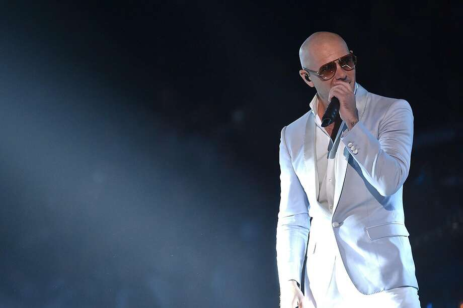 Rapper Pitbull will perform Saturday at Shoreline Amphitheatre. Photo: Mike Coppola, Getty Images For CMT