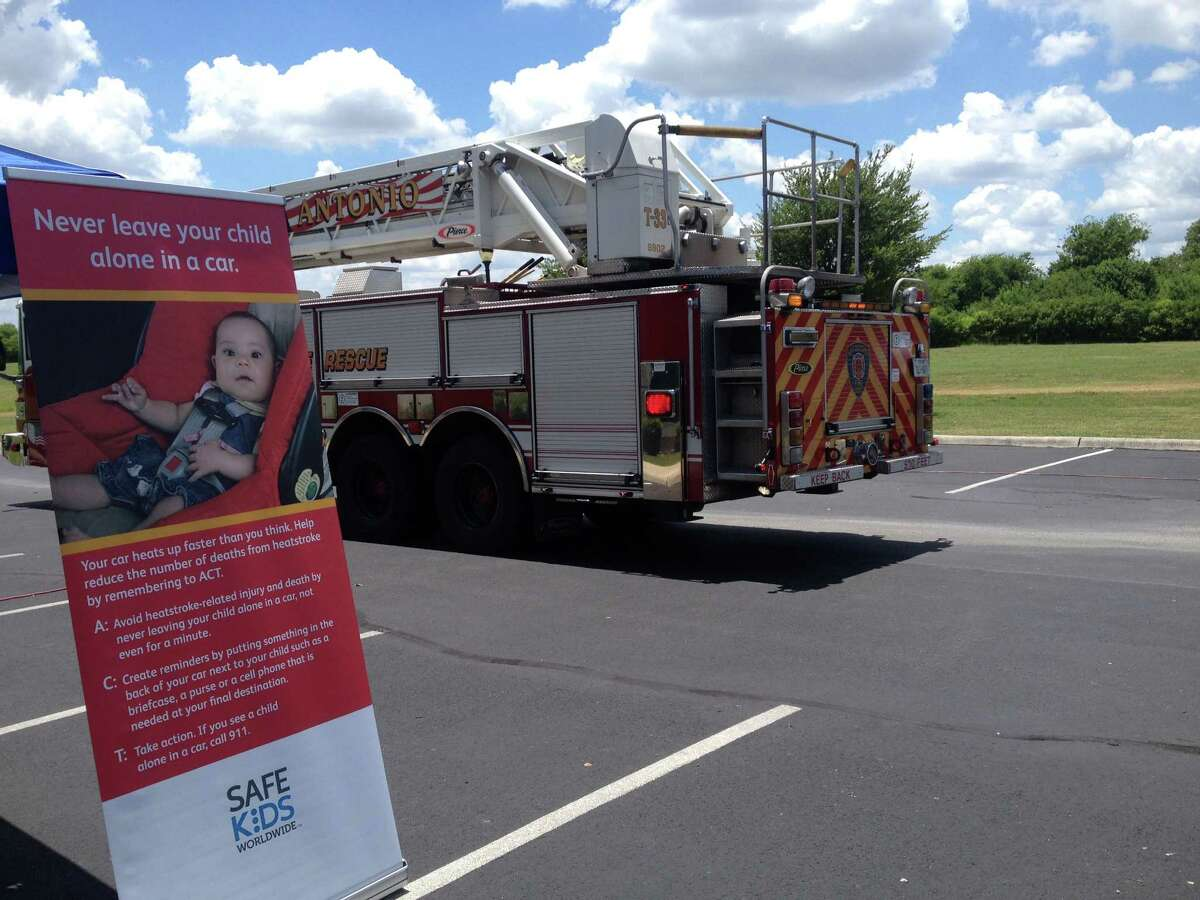 The San Antonio Fire Department came to a presentation put on by local nonprofits on Wednesday to raise awareness about heatstroke in children left in vehicles on hot days.