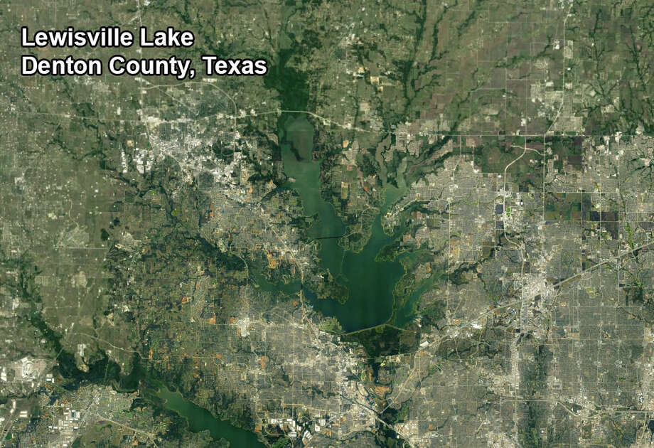"Lewisville Lake, located north of the Dallas-Fort Worth metroplex in Denton County, was the site of a drowning involving a so-called ""party barge.""Texas lakes have been at much higher levels this year thanks to a number of spring rainstorms. Click through to see how high they got after the last powerful storm systems."