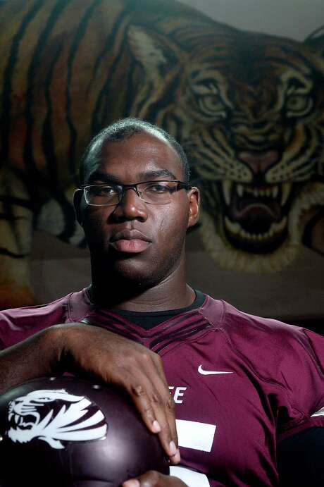 Senior Patrick Hudson is an offensive lineman for the Silsbee Tigers, who will kick off the 2015 season on the road next Friday.  Photo taken Thursday, August 20, 2015 Kim Brent/The Enterprise Photo: Kim Brent / Beaumont Enterprise