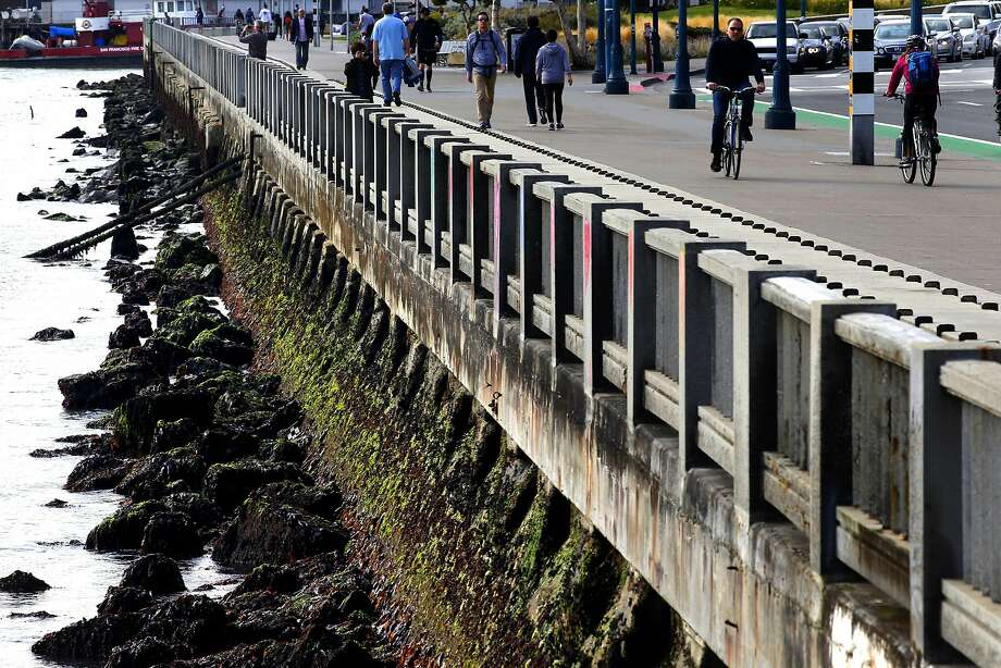 The decaying Embarcadero seawall in June 2016. Photo: Michael Macor, The Chronicle