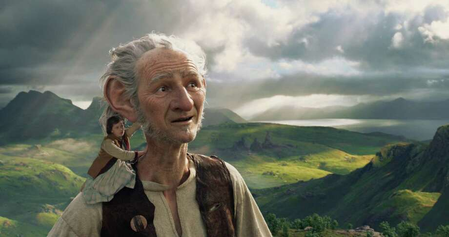 "Ruby Barnhill and Mark Rylance in ""The BFG ."" (Photo courtesy Disney/TNS) Photo: Handout, HO / TNS / Disney"
