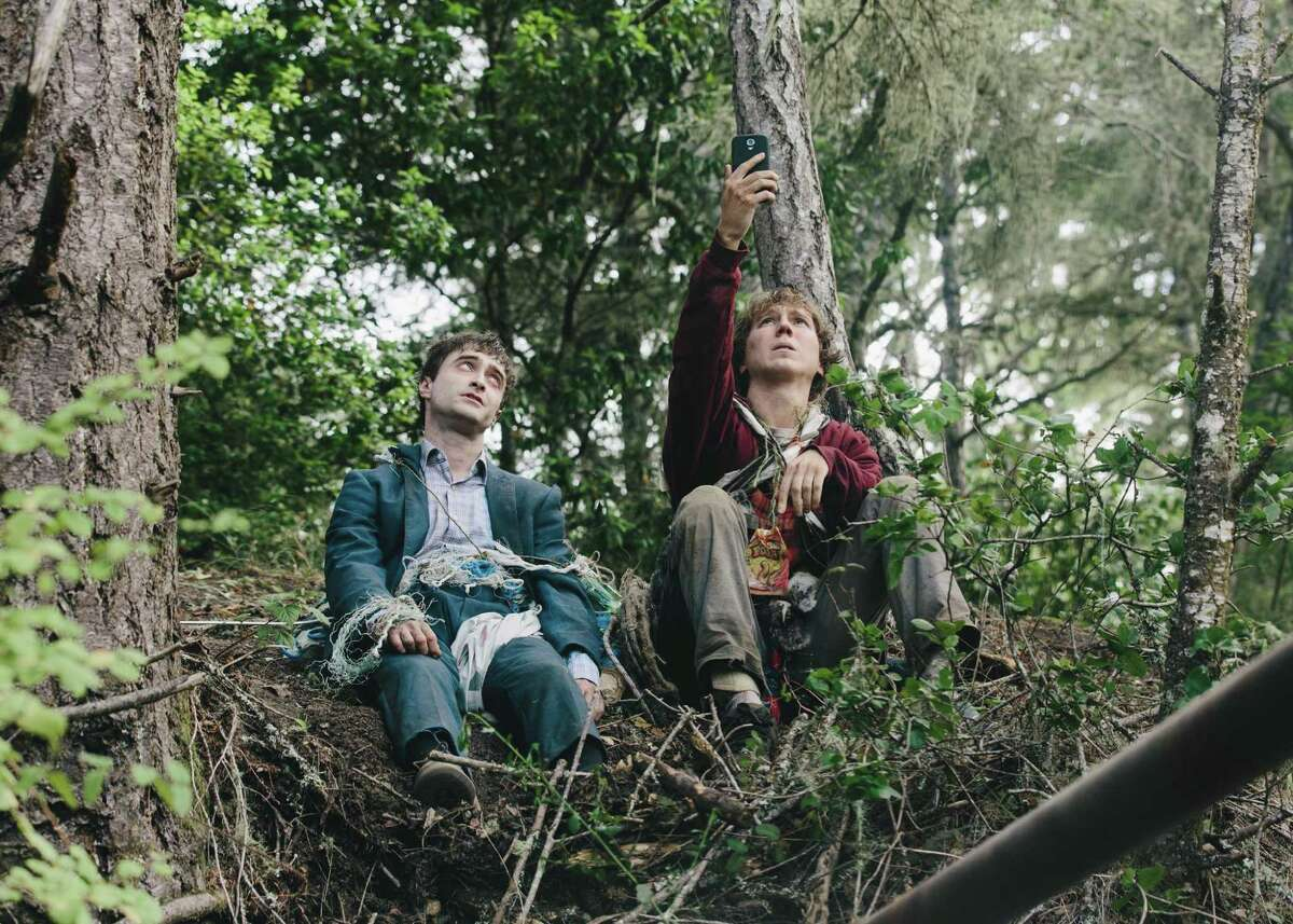 """2. """"Swiss Army Man"""": Sophomoric and repulsive, this mix of failed cleverness, vulgarity and failed sentiment featured Paul Dano as a man stuck on a desert island. When a body (Daniel Radcliffe) washes up on shore, he starts talking to it and soon imagines being able to ride him like a motorboat, powered by the corpse's flatulence. Later they have long, long discussions in an epic dialogue between the world's most boring live person and the world's most boring cadaver."""