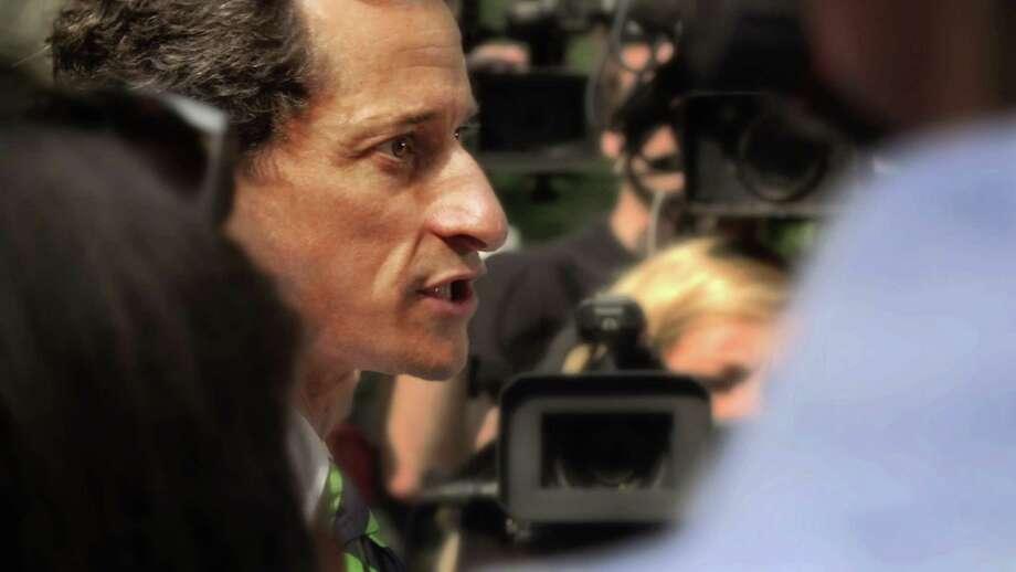"""Anthony Weiner in a still from """"Weiner."""" (Sean McGing/Motto Pictures) Photo: Sean McGing/Motto Pictures, HO / TNS / Newsday"""