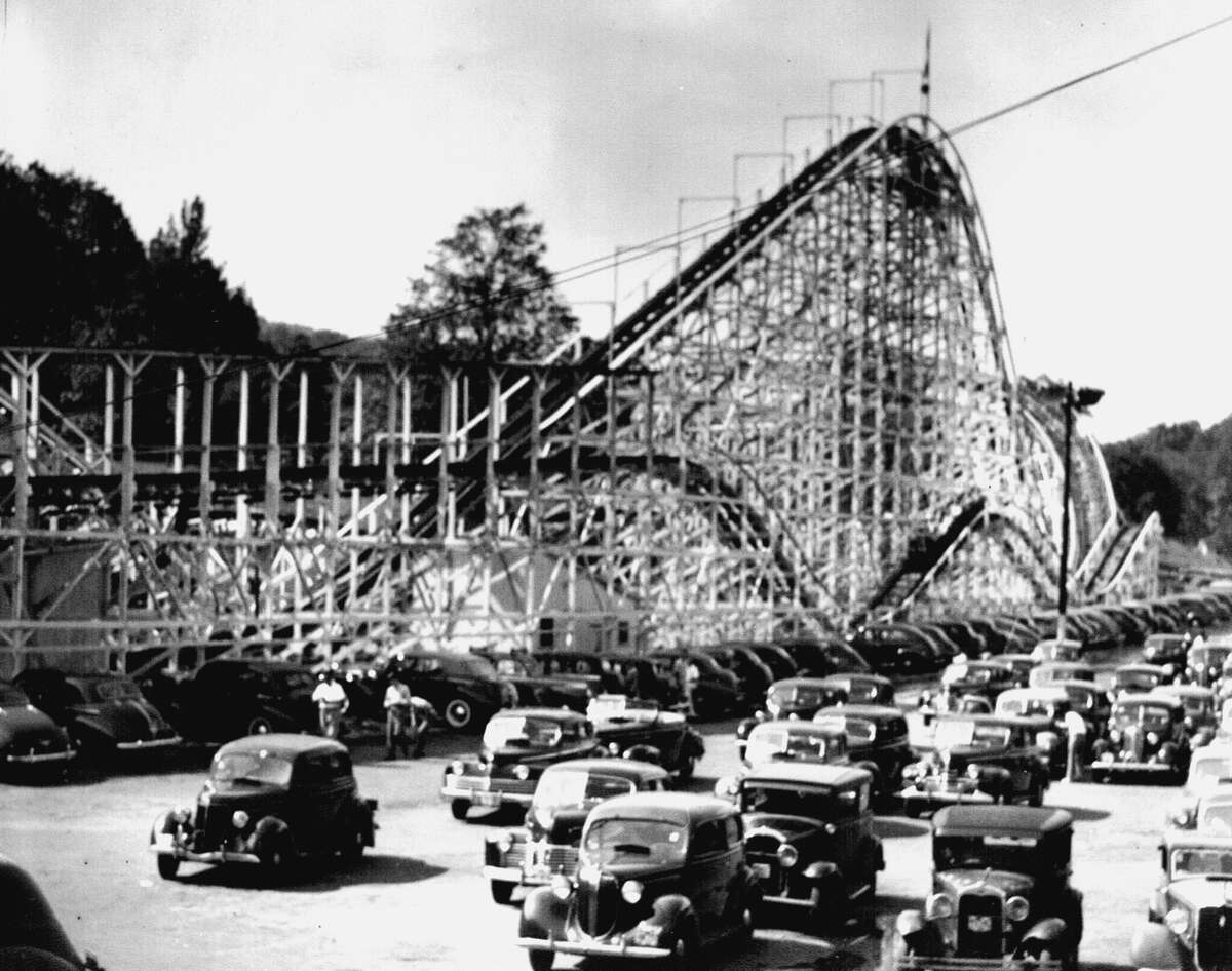 The Wildcat Roller Coaster at Lake Compounce in Bristol, Conn. in 1944.
