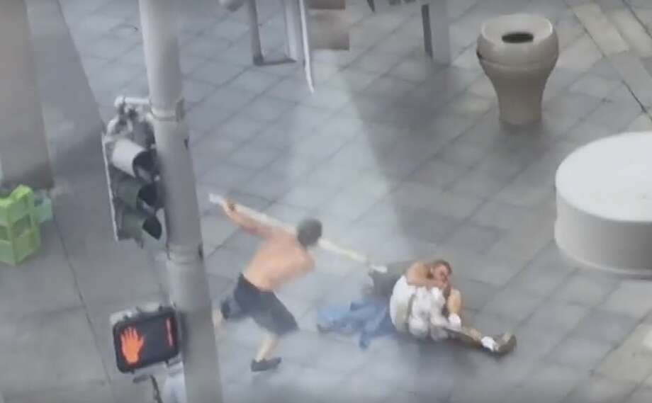 A harrowing video out of Denver shows a man attacking people on the street with a PVC pipe on Wednesday evening.The incident happened at the busy 16th Street Mall, which is Denver's number one tourist attraction.According to KUSA-TV in Denver the man was taken into custody by local police and charged with aggravated assault. At least two people were injured in the attack but they refused treatment from officials. The attacker has been identified as Clarence Seeley, 32. He grabbed the pipe from a construction truck nearby. Photo: Caleb Bonham