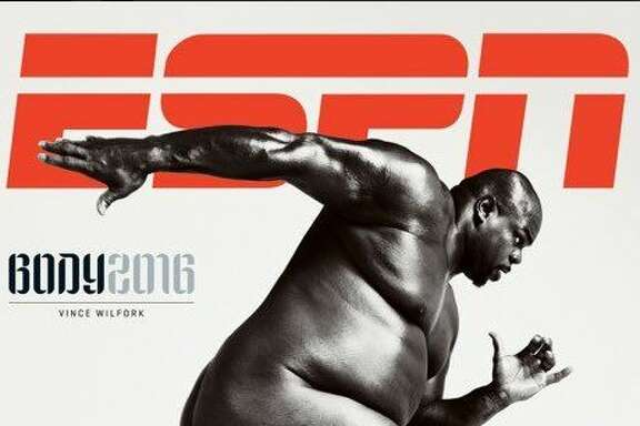 Texans defensive tackle Vince Wilfork graces the cover of ESPN the Magazine's upcoming Body Issue.