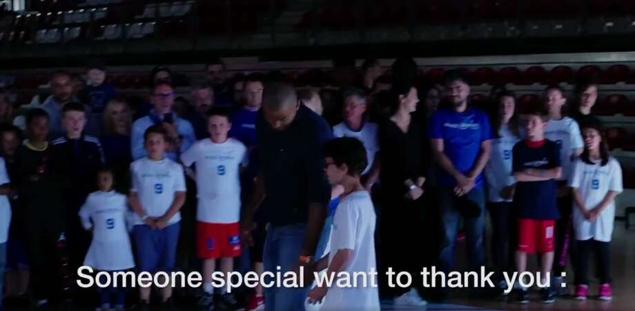 Tony Parker has become a staple of San Antonio, helping bring home four of five championships for the Spurs, but before the rings, banners and fans he was a little boy with big dreams — one he was able to reunite with this summer with the help of Make-A-Wish France. Photo: Facebook Video