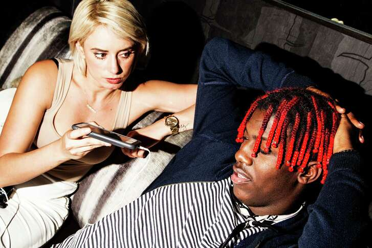 "Julieanna Goddard (YesJulz to her numerous Snapchat followers) interview hip-hop artist Lil Yachty during fashion week in New York in February. Goddard's social media fame has made her a brand ambassador in great demand. ""We are literally living in a time when you can say you're something on the Internet and become that thing,"" said Goddard."